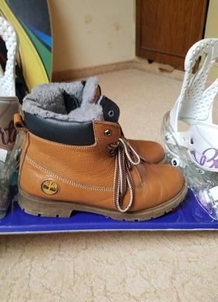Кожаные зимние ботинки timberland 38 р. новые