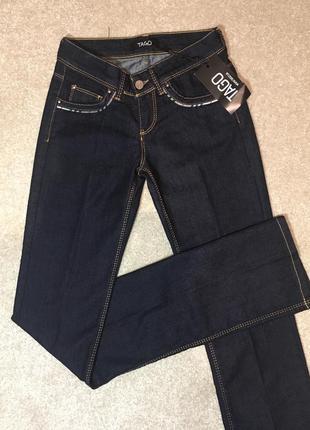 Темные классические джинсы прямые !