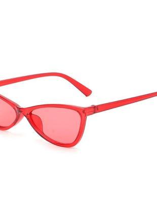 Женские красные трендовые очки кошечки cat eye новинка