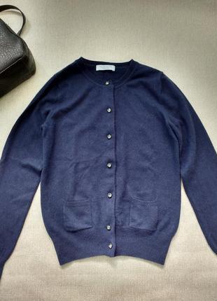 Шикарный кашемировый свитер на пуговицах 100% кашемир