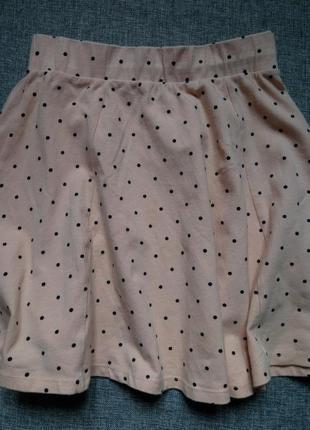 Крутая юбка солнце,пудровая юбка в горох, мини юбка,хлопковая летняя юбка