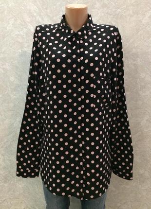 Блуза  рубашка в горох f&f
