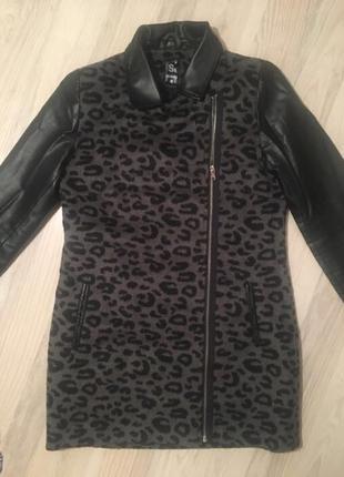Пальто куртка косуха кожанка