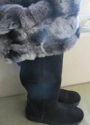 Супер теплые зимние ботфорты 39
