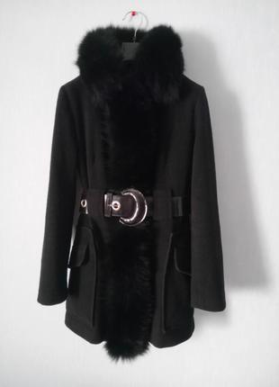 Деми пальто со съемным мехом