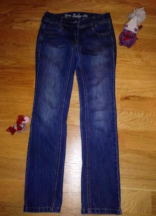 Фирменные узкие джинсы