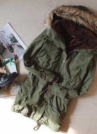 Парка/длинная куртка на искусственном меху