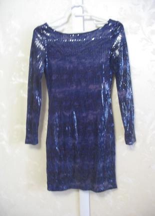 Платье в пайетки с открытой спинкой atmosphere