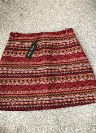 Плотная мини юбка от river island!