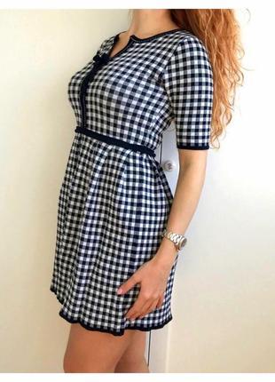 Милое бандажное платье в клеточку bottega veneta