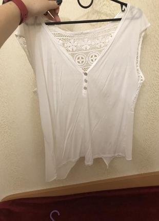 Турецкая блуза с шифоновой и кружевной спинкой