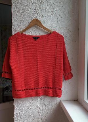 Яркий укороченный кроп топ свитер р. s-m l oversize