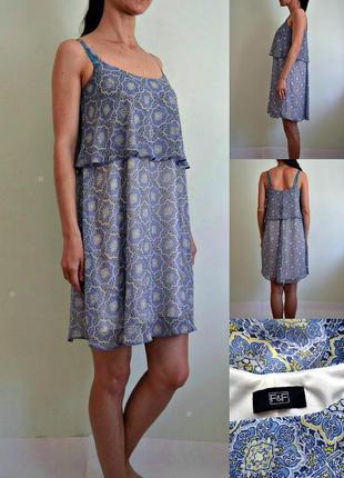 Легкое воздушное шифоновое платье