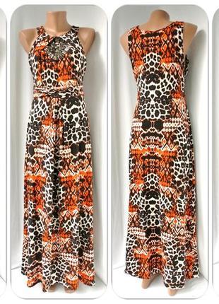 """Оригинальное,стильное длинное платье """"wallis"""" с декором. размер uk12(m)."""