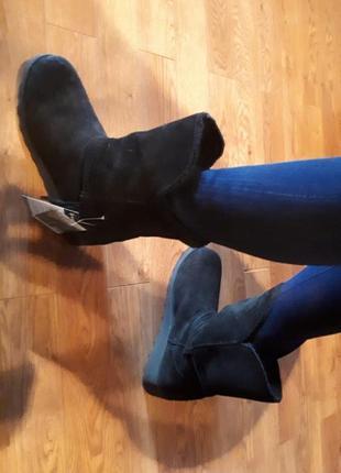 Ботинки зимние женские замш