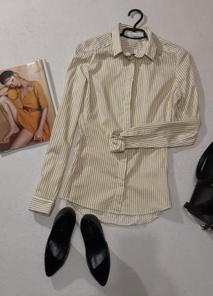 Стильная котоновая рубашка. размер м