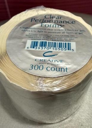 Формы прозрачные cnd sculpting performance forms clear