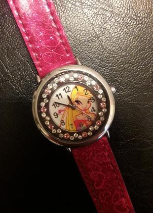Стильные детские наручные часы стелла winx club .  водонепроницаемые. часы для девочки