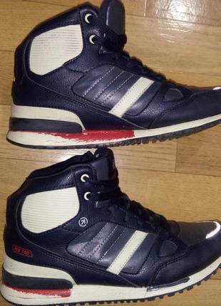 Кожаные ботинки зимние на 38-39р