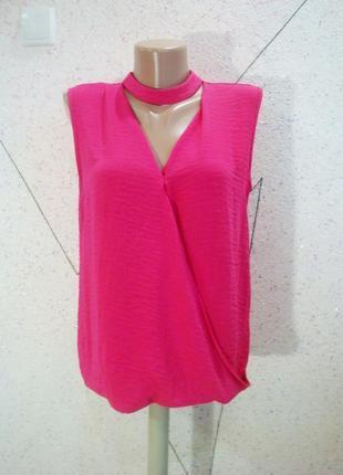 Блуза на запах с чокером5 фото