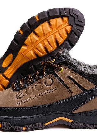 189a7f57f Мужские зимние кожаные ботинки ecco natural motion winter 40,41,42,43,