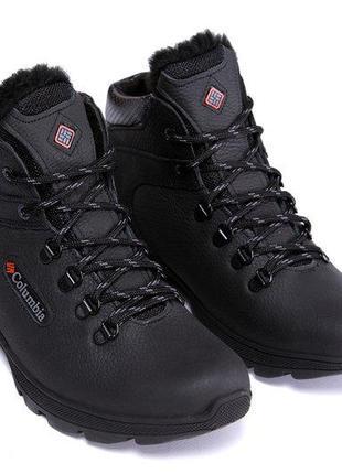 Мужские кожаные зимние ботинки columbia track control 41,43,44,