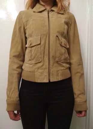 Замшевая куртка vero moda