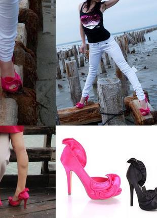 Розовые туфельки кавай глэм игрушечные сатиновые туфли гламурные 37