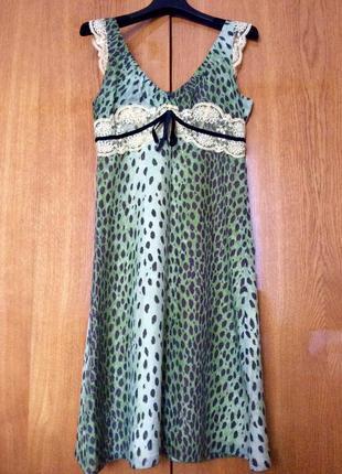 Платье из натурального шелка miss sixty