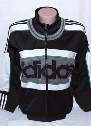 Спортивный подростковый реглан adidas р. 164 на молнии