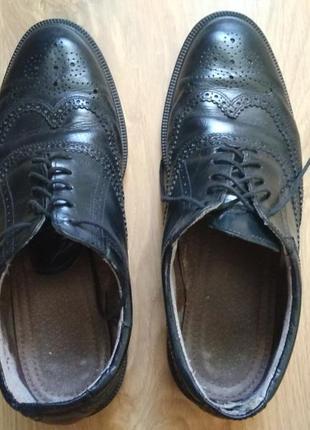 Туфли кожаные декор перфорация
