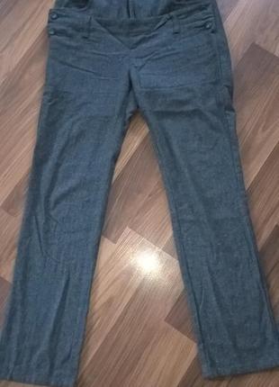 Теплые шерстяные брюки
