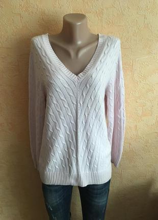 Нежно розовый хлопковый свитер