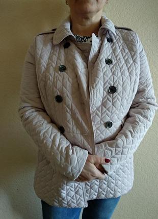 Стеганная курточка нежная пудра