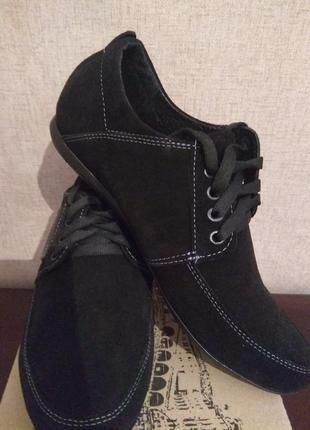 Туфлі чоловічі(туфли мужские) замшеві van kristi