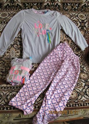 Теплая пижама из микрофлиса.