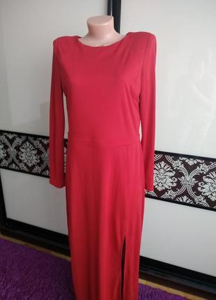 Довге червоне плаття, платье