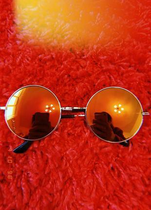 Крутые новые дзеркальные очки, окуляри круглые