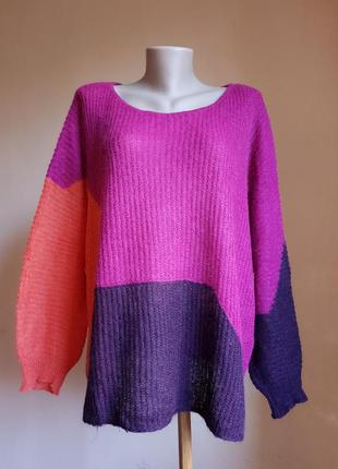 Обьемный свитер оверсайз мохер united colours of benetnon италия