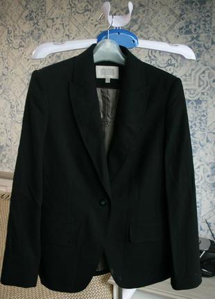 Черный пиджак, офисный жакет