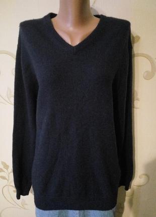 80 % натуральная шерсть . теплый мягкий свитер джемпер пуловер . большой размер