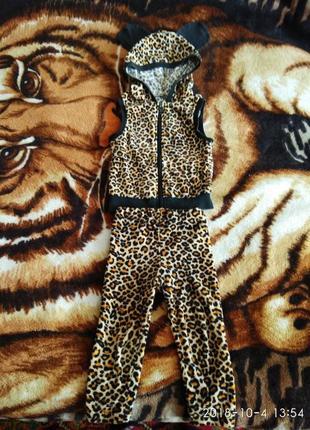 Велюровый костюмчик тигренок