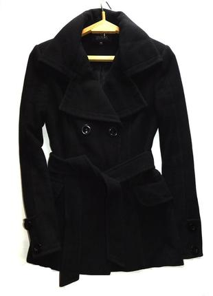 Утепленное шерстяное двубортное пальто от vivalon