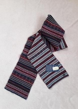 Длинний лакшери шарф мужской овечья шерсть hammond&co от debenhams