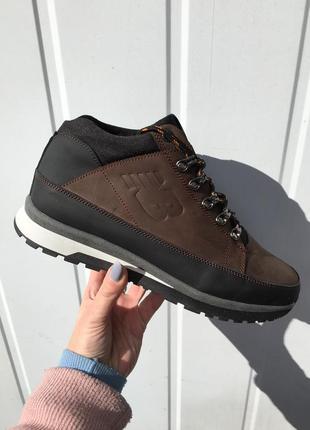 Ботинки мужские new balance зимние коричневые кожаные