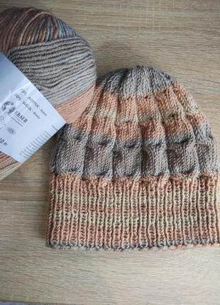 Вязаная шапка ручная работа весна-осень / горячая цена! скидки!
