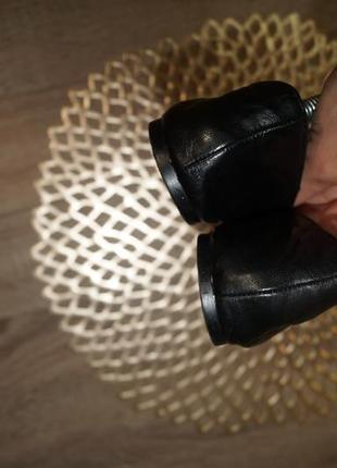 (37/24см) zara! кожа! стильные фирменные балетки, туфли на низком ходу5