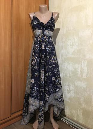 Оригинальный сарафан,платье в принт,100%хлопок!
