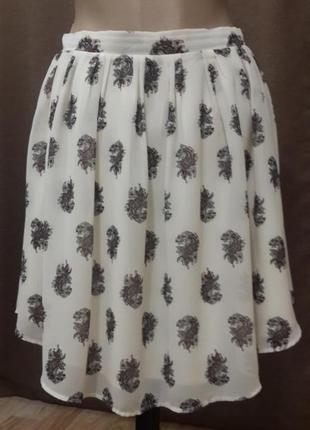Шифоновая юбка от h&m солнце-клеш