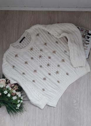 Красивый свитер с камнями atmosphere л-хл(14)